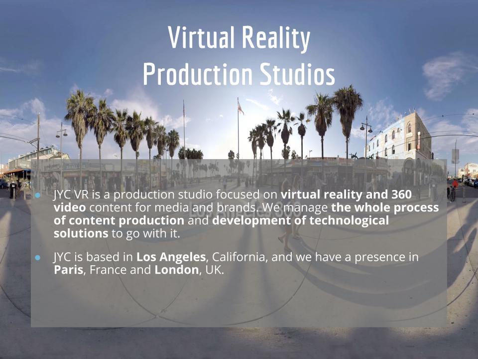 Virtual Reality Production Studio JYC VR