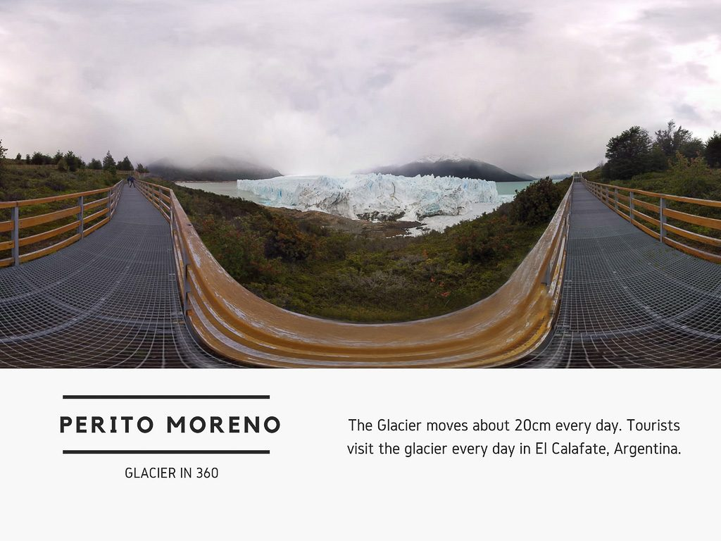 Virtual Reality Production Studio JYC VR Catalog Argentina Perito Moreno