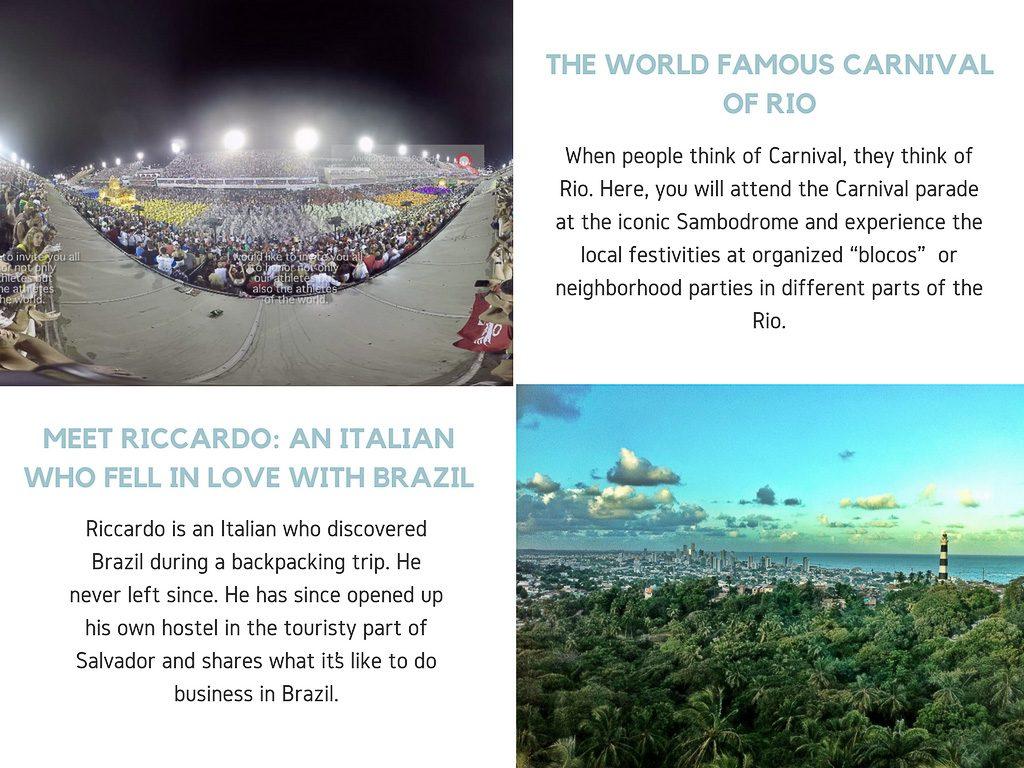 Virtual Reality Production Studio JYC VR Catalog Brazil Carnival Salvador