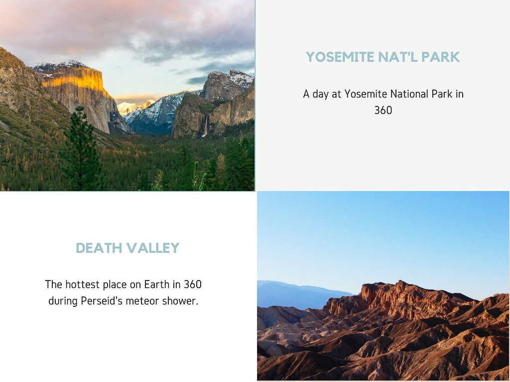 Virtual Reality Production Studio JYC VR Catalog USA Yosemite Death Valley